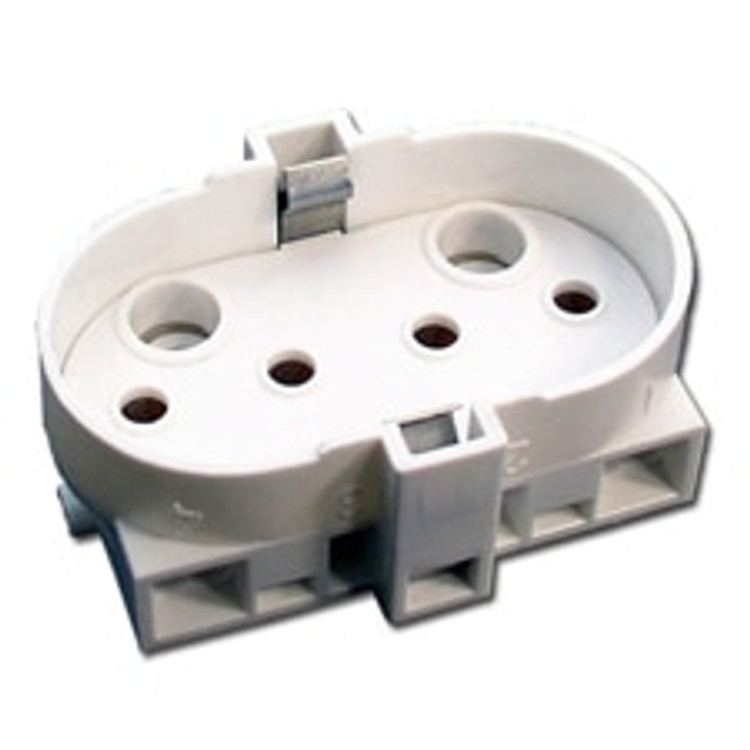 LH0269 2G11 4pin CFL socket with two hole horizontal mounting