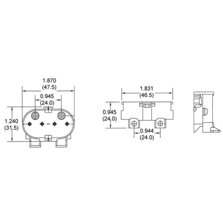 LH0270 2G11 4pin CFL socket with two hole & swivel bracket horizontal mounting
