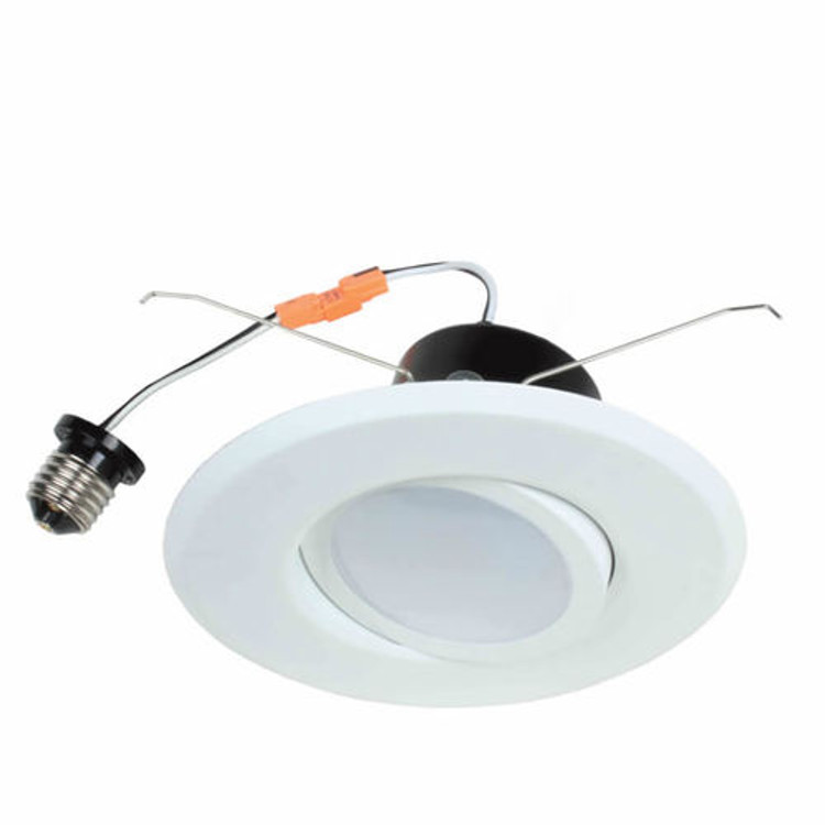 Topaz 79711 RTL/637WH/90/D-28 12 Watt 5 to 6 inch LED Downlight Retrofit 3000K with White Gimbal Trim Dimmable 120V