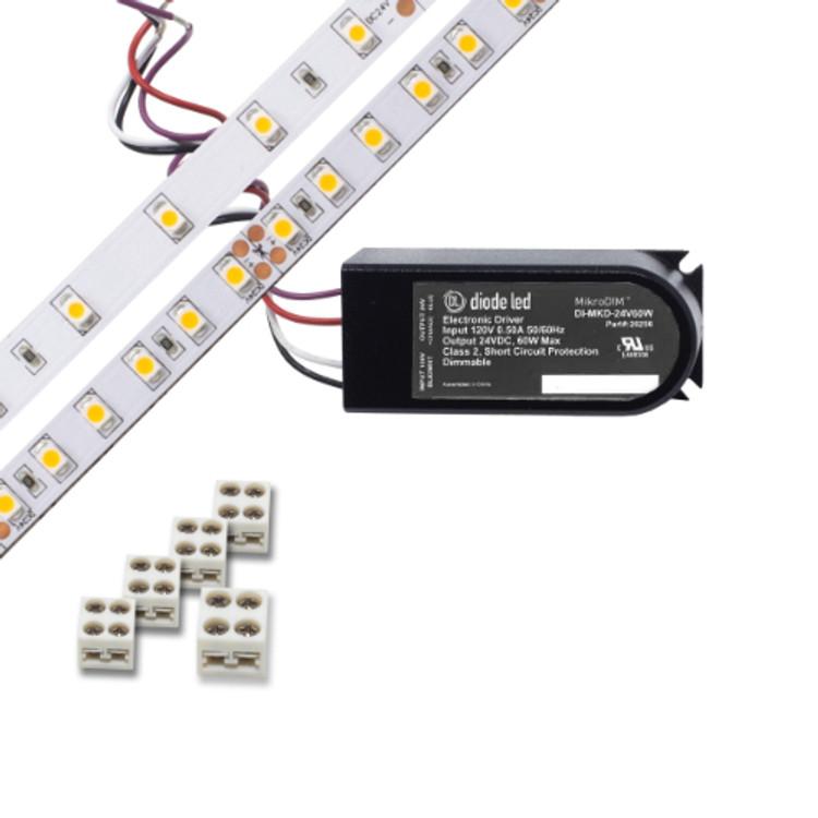 Diode DI-KIT-24V-BC1MD60-4200 100 Series Blaze Basics LED Tape Light Kit 4200K 24V