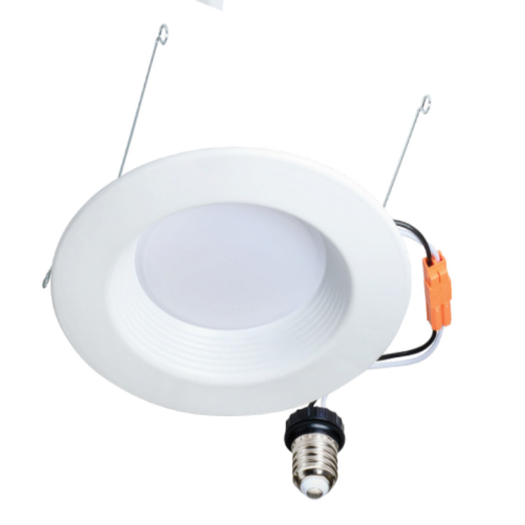 Topaz 79588 RTL/633WH/12W/D-61 12 Watt 6 inch LED ECO Style Downlight 3000K with Baffle Trim Dimmable 120V