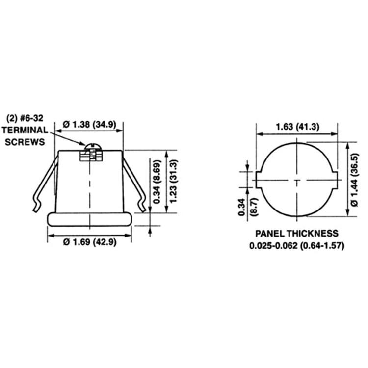 LH0001 Incandescent medium base porcelain snap-in lamp holder/socket