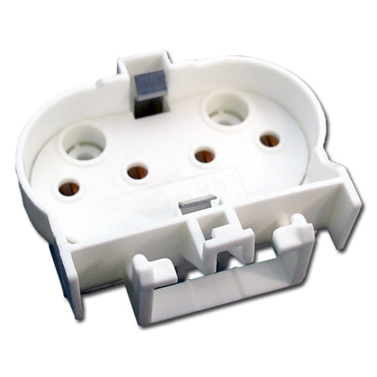 LH0272 2G11 4 pin CFL lamp holder/socket with two hole and snap in horizontal mounting