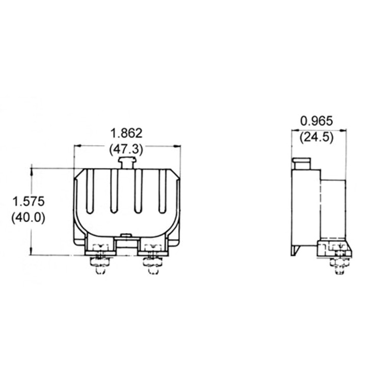 LH0327 2G11 base CFL horizontal lamp holder/socket with two hole mounting and press release