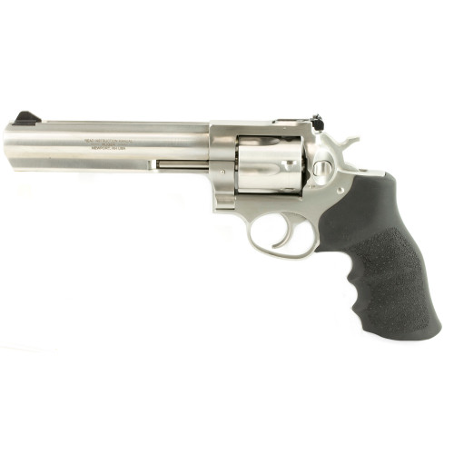 """Ruger GP100 357 Mag 6"""" Stainless Hogue Monogrip 01707"""