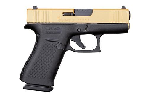 "Apollo Custom Glock 43X 9mm FS 3.4"" 2 10rd Gold Slide ACG-57005"