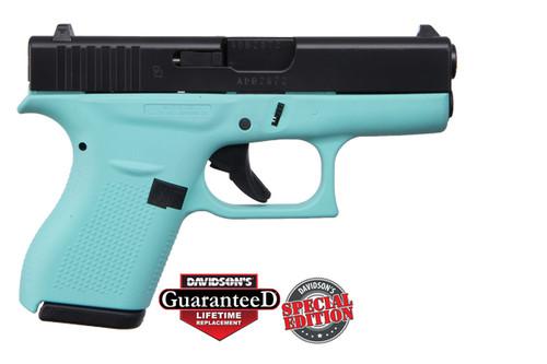 "Apollo Custom Glock 42 380acp FS 3"" 2 6rd REB Frame Blk Slide ACG-00834"