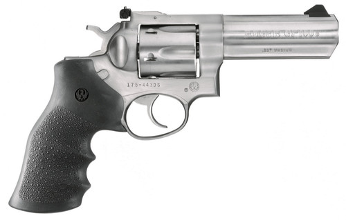 """Ruger GP100 357mag 4.2"""" 6rd Stainless Hogue Monogrip 01705"""