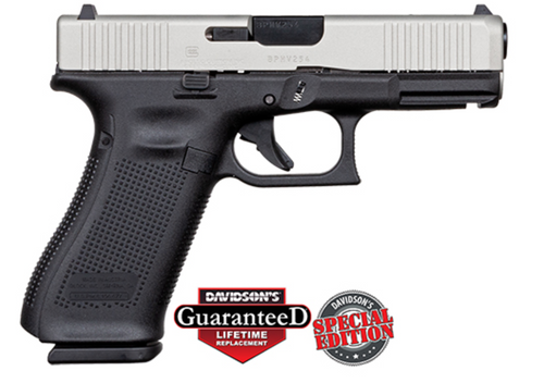 "Apollo Custom Glock 45 9mm 4.02"" FS 3 17rd Silver Slide ACG-57036"