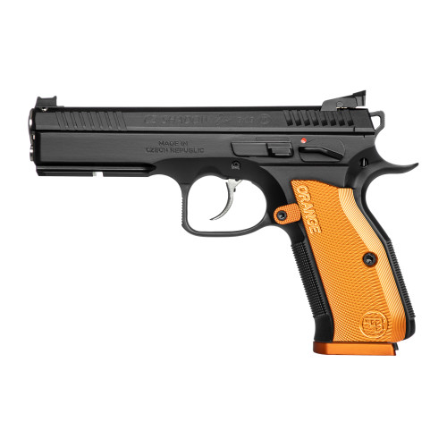 """CZ Shadow 2 Orange 9mm 4.89"""" 17rd 4B 91249"""