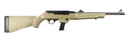 "Ruger PC Carbine 9mm 16.12"" HB TB Fluted 17rd TD FDE 19128"