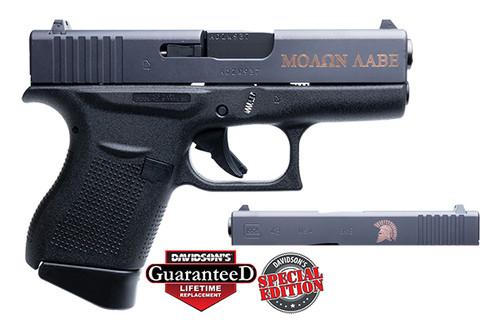 "Glock 43 Spartan 9mm 3.39"" 2 6rd DAV-12400"