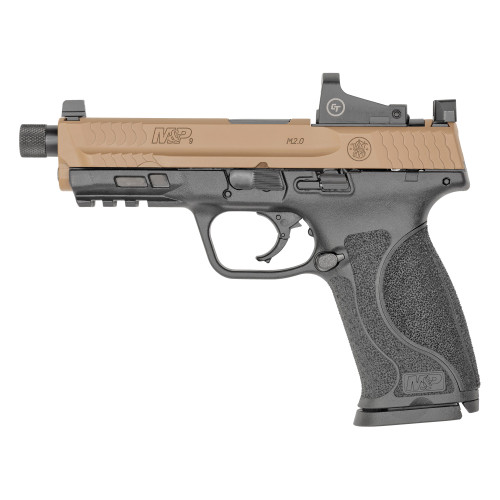 """Smith & Wesson MP2.0 9mm 4.6"""" SHNS 2 17rd FDE Slide CT RedDot 13450"""