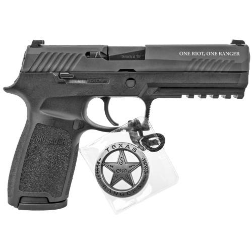 """Sig Sauer P320F 9mm 4.7"""" Siglite 2 17rd Texas Ranger 320F-9-BSS-FTRF"""