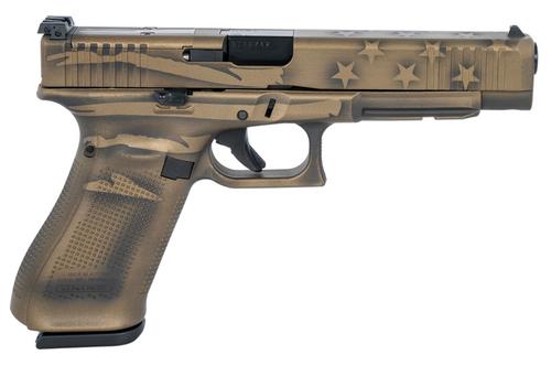 "Glock 34 Gen5 MOS 9mm 5.31"" Adj 17+1 Worn Flag PA343S104-BBBWFLAG"