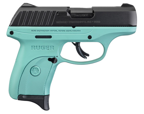 """Ruger EC9s 9mm 3.12"""" FS 7rd Turquoise 3285"""