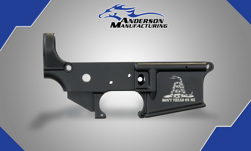 "Anderson ""Don't Tread On Me"" Stripped Lower Receiver - D2-K067-A001-0P"