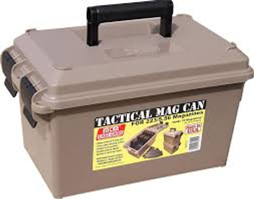 MTM TACTICAL CAN (HOLDS 15 30RD 223/5.56 MAGS) - TMC15