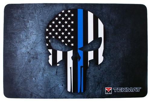 "TEKMAT ARMORERS BENCH MAT 11""X17"" PUNISHER BLUE LINE"