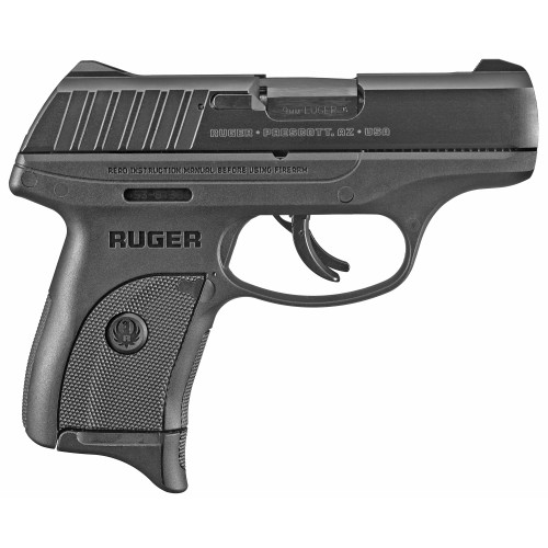 "Ruger EC9s 9MM 3.1"" Black Oxide 7rd 1 mag Thumb Safety FS - 3283"