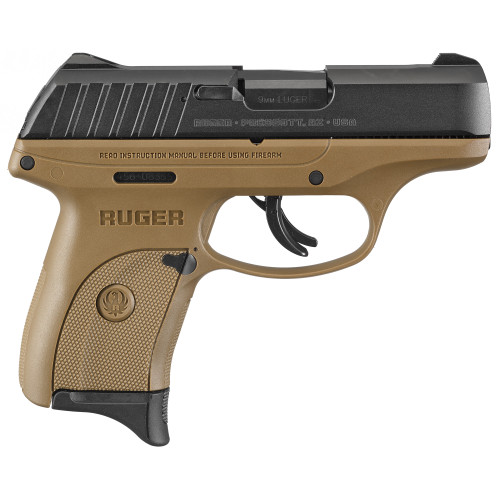 "Ruger EC9s 9mm 3.1"" FDE 7rd 1 Mag Thumb Safety FS 3297"