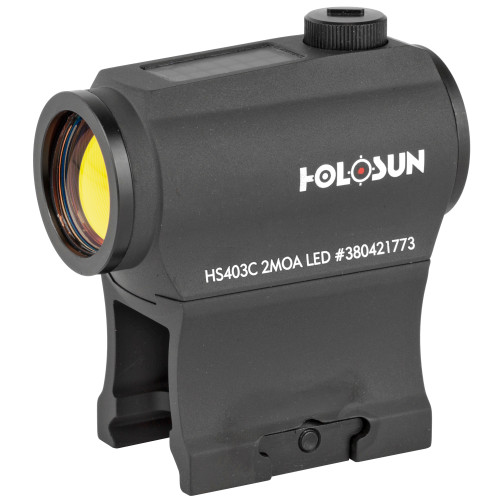 Holosun Micro Red Dot 2MOA Solar w/Battery Shake Awake - HS403C