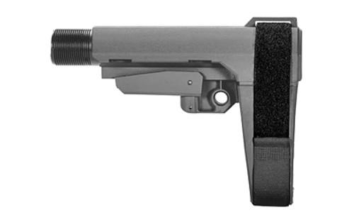 SB Tactical Brace SBA4 GREY w/ MIL-SPEC Buffer Tube SBA3-03M-SB 699618783094 SBA3-03M-SB