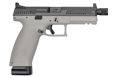 "CZ P-10F 9MM 4.5"" TB Full Size High NS 21rd Urban Grey - 91544"
