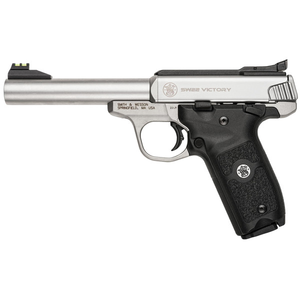 """Smith & Wesson Victory 22lr 5.5"""" Adj Fiber Stainless TS 108490"""