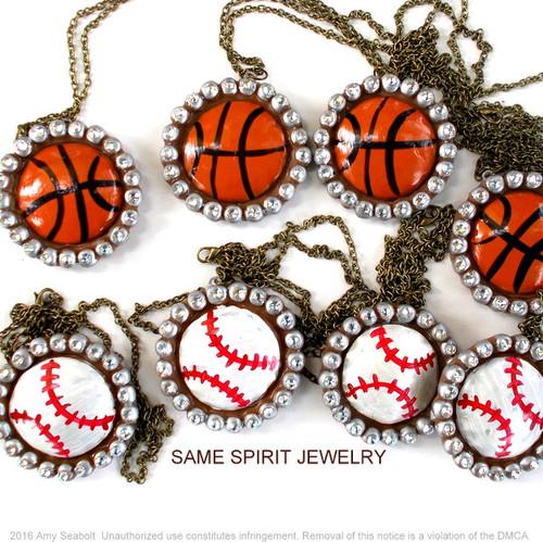 NECKLACE - CHOOSE YOUR SPORT (baseball, football, basketball, softball, volleyball)