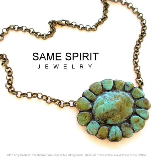 ALAMO CHOKER (faux turquoise)