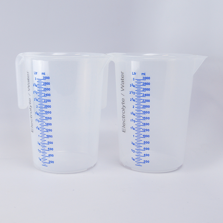 Jug (~3L) labeled for electrolyte/water