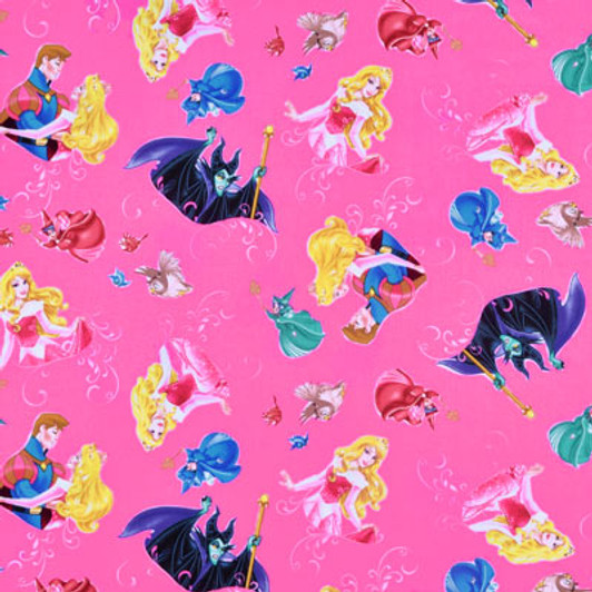 85040101-2 Bambi Toile in Pink Chai 100/% cotton print fabric Pink Chai