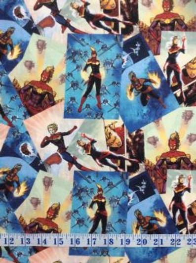 Cotton Fabric FQ quilting Pirates of the Caribbean Captain Jack Sparrow on black