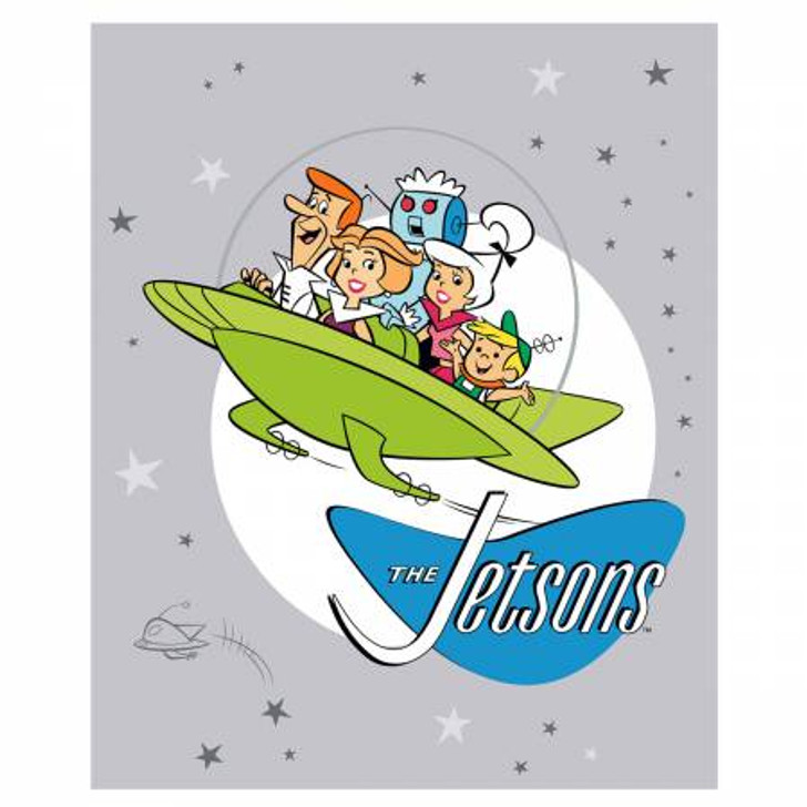 Jetsons Family Multi Cotton Quilting Fabric Panel