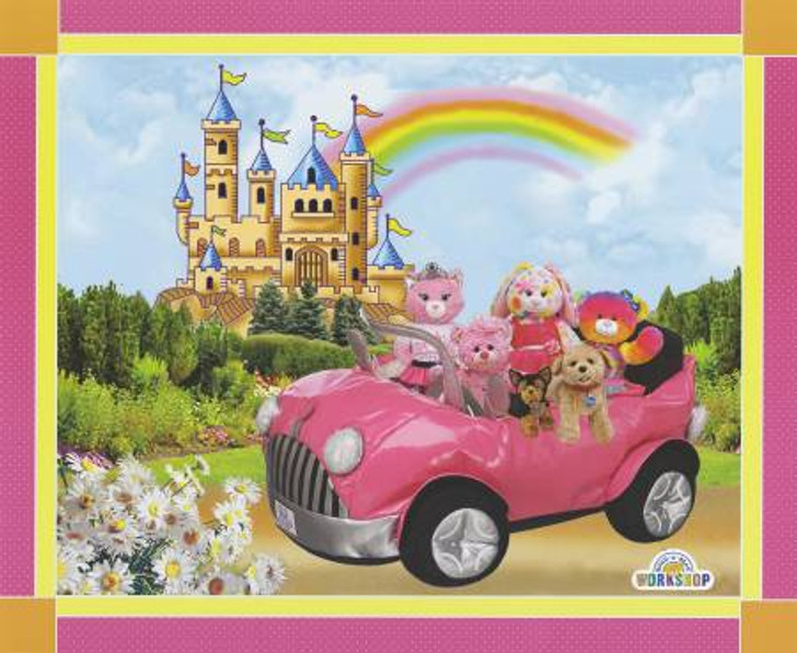 Build A Bear Workshop Princess Rainbow Cotton Quilting Fabric Panel