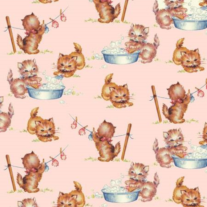 Cats Kittens Pink Kitties Thats My Baby Cotton Quilting Fabric 1/2 YARD