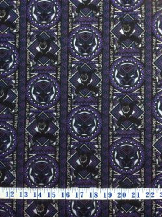 Fabric by the Yard Eugene Textiles Camelot Marvel Heroes Black Panther Heroes Purple
