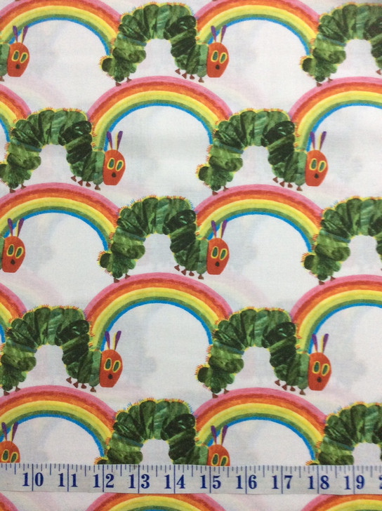THE VERY HUNGRY CATERPILLAR RAINBOWS QUILT FABRIC