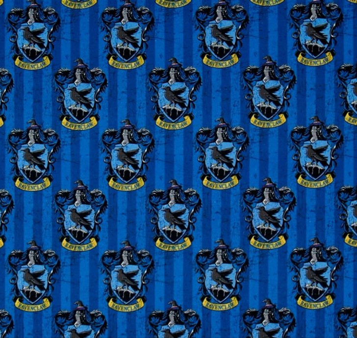 Harry Potter House Crest Ravenclaw Cotton Quilting Fabric 1/2 YARD