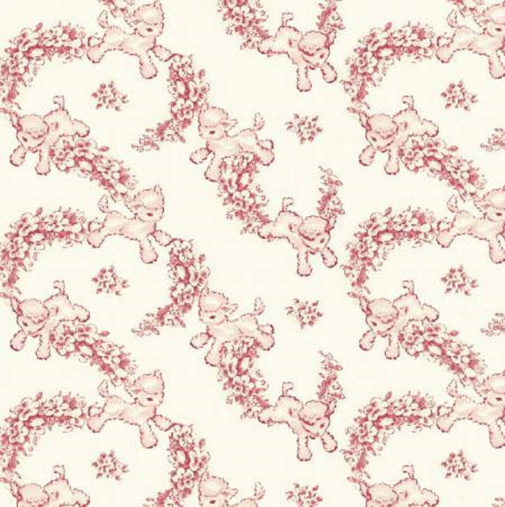 Sheep Lambs Light Pink Thats My Baby Cotton Quilting Fabric 1/2 YARD