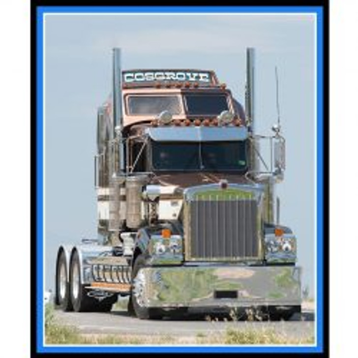 Trucks Big Rigs Cosgrove Rig Cotton Quilting Fabric Panel