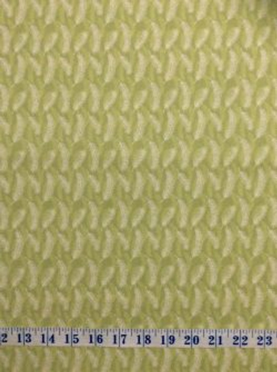 Burrangong Farm Australian Farm Wheat Green Cotton Quilting Fabric 1/2 YARD