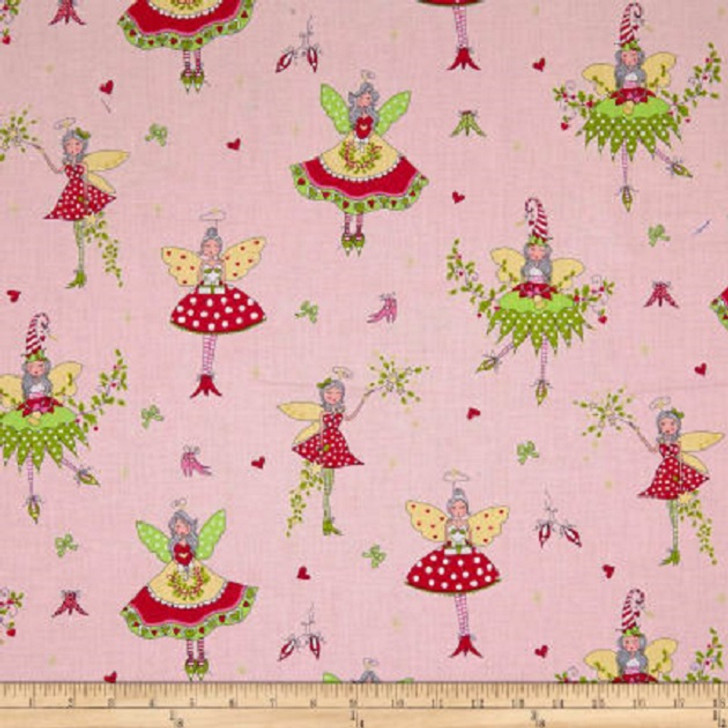 Hollywood Pixies Candy Metallic Gold Highlights Michael Miller Cotton Quilting Fabric 1/2 YARD