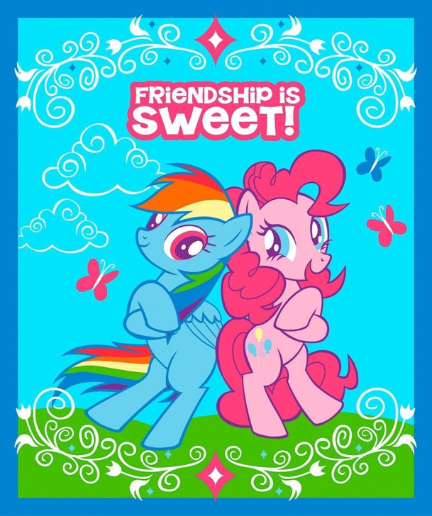 My Little Pony Friendship is Sweet Cotton Quilting Fabric Panel