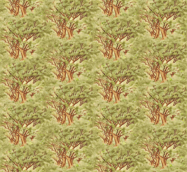 Waltzing Matilda Trees Allover Cotton Quilting Fabric 1/2 YARD