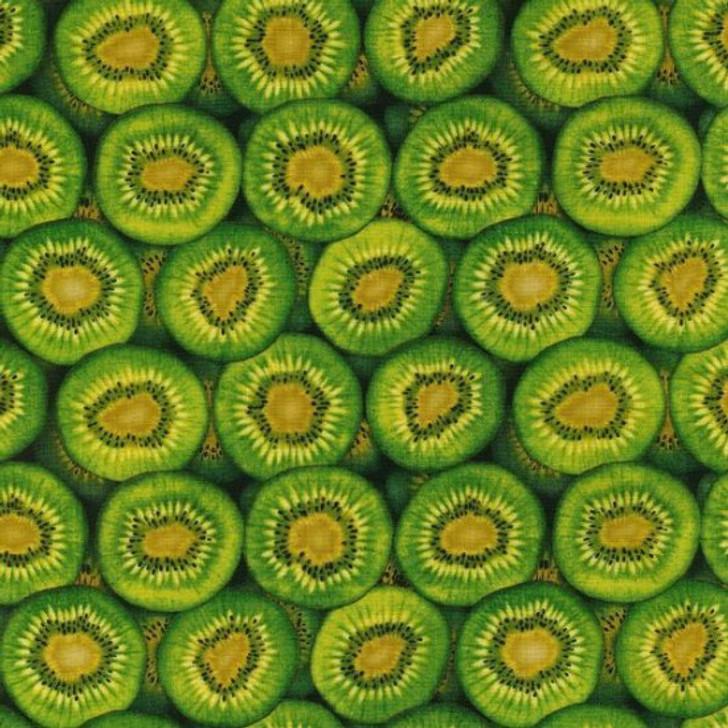 Kiwi Fruit Green Cotton Quilting Fabric 1/2 YARD