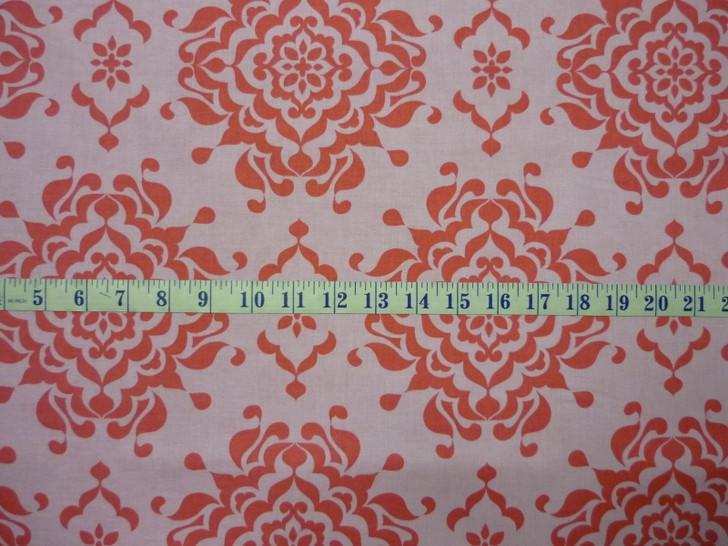 Splendor Large Damask Pink Riley Blake Cotton Quilting Fabric 1/2 YARD
