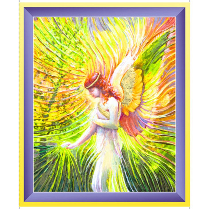Angel Of Patience Artworks XI Cotton Quilting Fabric Panel