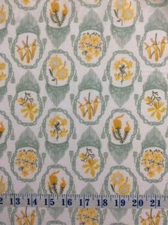 Flowers Andes White Background Floral Cotton Quilting Fabric 1/2 YARD